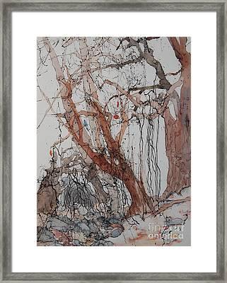 Kudzu Winter Framed Print by Elizabeth Carr