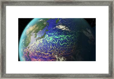 Kuroshio And Pacific Ocean Currents Framed Print by Karsten Schneider