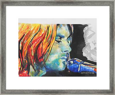 Kurt Cobain Framed Print by Chrisann Ellis