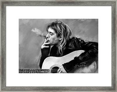 Kurt Cobain Guitar  Framed Print by Viola El