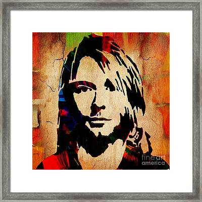 Kurt Cobain Nirvana Collection Framed Print by Marvin Blaine