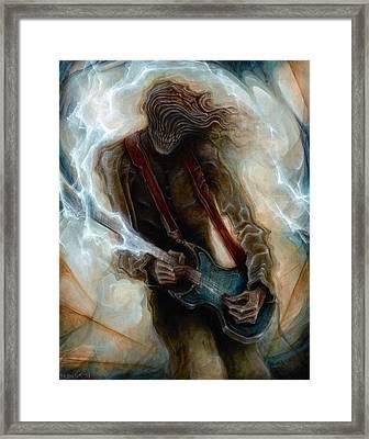 Kurt Cobain Zombie Framed Print by Robert Anderson