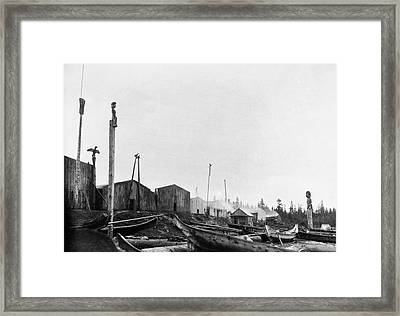 Kwakiutl Village, 1894 Framed Print by Granger