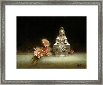 Kwan Yin Framed Print by Christy Olsen