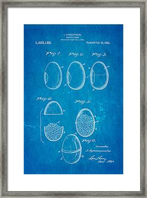 Kyriazopoulos Confetti Bomb Patent Art 1922 Blueprint Framed Print by Ian Monk
