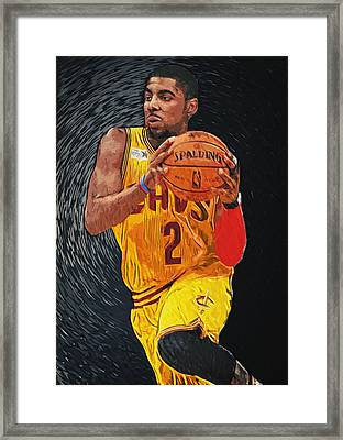 Kyrie Irving Framed Print by Taylan Soyturk