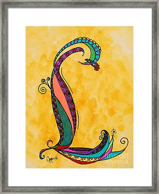 'l' Monogram Framed Print by Joyce Auteri