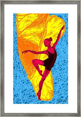 La Ballerina Du Juilliard Framed Print by Pierre Louis