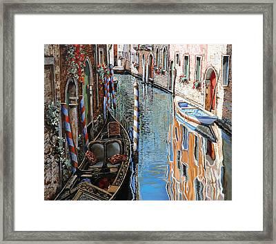 La Barca Al Sole Framed Print by Guido Borelli