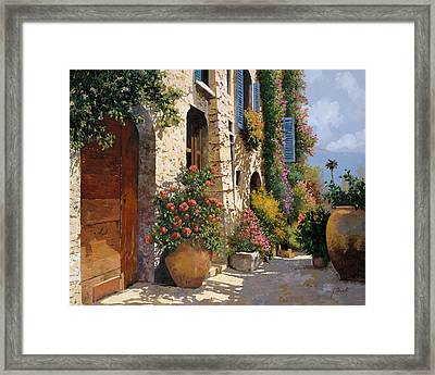 La Bella Strada Framed Print by Guido Borelli