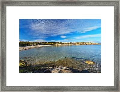 La Bobba Beach - Carloforte Framed Print by Antonio Scarpi