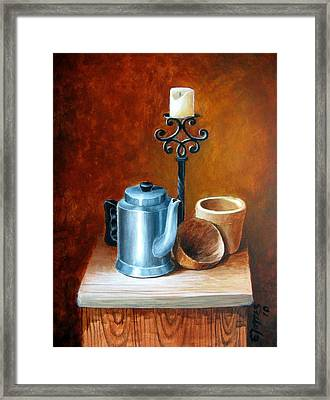 La Cafetera Framed Print by Edgar Torres