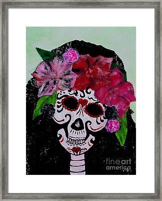 La Calaveras Catrina Radka Framed Print by Alys Caviness-Gober