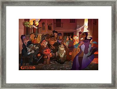 La Calle Framed Print by Nelson Dedos Garcia