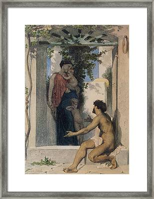 La Charite Romaine Framed Print by William Bouguereau