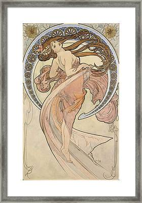 La Danse, 1898 Watercolour On Card Framed Print by Alphonse Marie Mucha