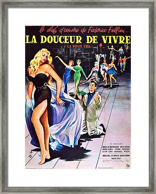 La Dolce Vita, Aka La Douceur De Vivre Framed Print by Everett