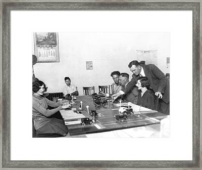 La Drivers' License Test Framed Print by Underwood Archives