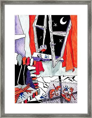La Erotica Del Ritmo - Mujeres Vino Y Seduccion Framed Print by Arte Venezia