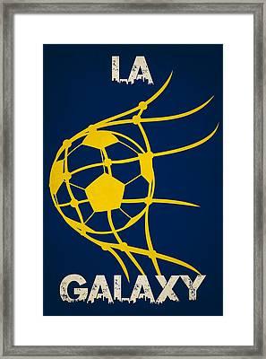 La Galaxy Goal Framed Print by Joe Hamilton