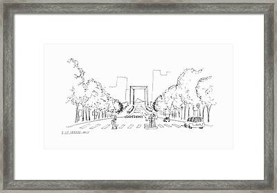 La Grande Arch Framed Print by Steven Tomadakis