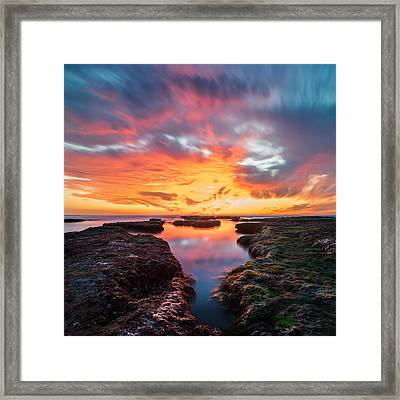 La Jolla California Reflections - Square Framed Print by Larry Marshall