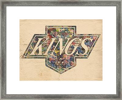 La Kings Vintage Art Framed Print by Florian Rodarte