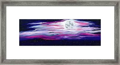 La Luna 5 Framed Print by Jeanne Fischer