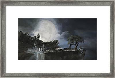 La Luna Bianca Framed Print by Guido Borelli