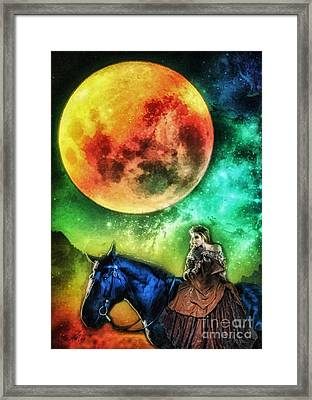 La Luna Framed Print by Mo T