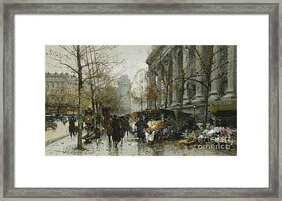 La Madelaine Paris Framed Print by Eugene Galien-Laloue