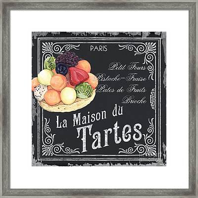 La Maison Du Tartes Framed Print by Debbie DeWitt