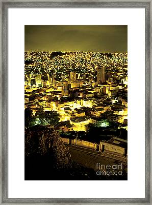 La Paz Cityscape Bolivia Framed Print by Ryan Fox