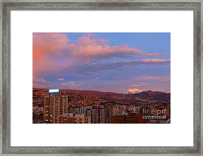 La Paz Twilight Framed Print by James Brunker