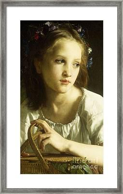 La Petite Ophelie Framed Print by William Adolphe Bouguereau