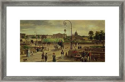La Place De La Concorde Framed Print by Giuseppe Canella