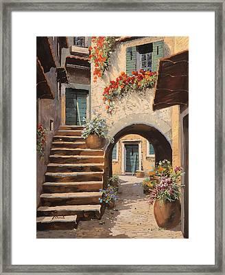 La Porta Dopo L'arco Framed Print by Guido Borelli