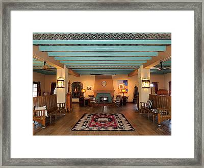 La Posada Hotel Ball Room Framed Print by Gordon Beck