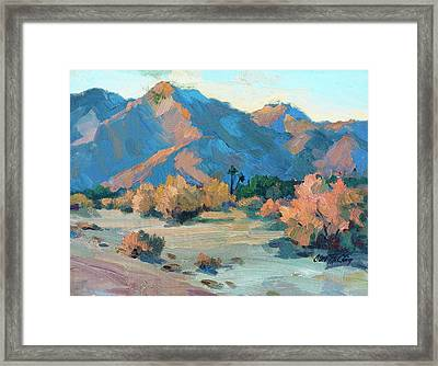 La Quinta Cove - Highway 52 Framed Print by Diane McClary