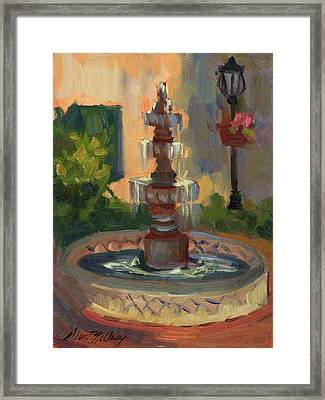 La Quinta Resort Fountain Framed Print by Diane McClary