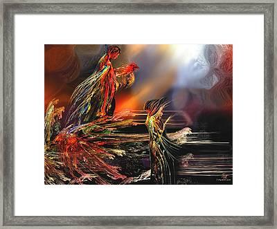 La Rencontre Framed Print by Francoise Dugourd-Caput