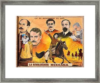 La Revolution Mexicana Framed Print by Christine Till