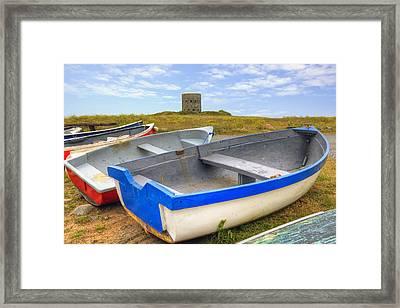 La Rousse Tower - Guernsey Framed Print by Joana Kruse