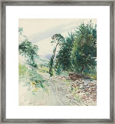 La Route Framed Print by Giovanni Boldini