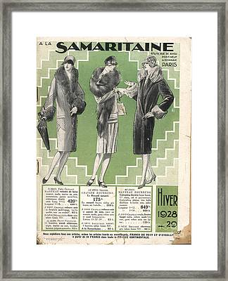 La Samaritaine 1928 1920s France Mail Framed Print by The Advertising Archives
