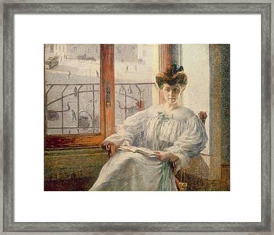 La Signora Massimino Framed Print by Umberto Boccioni