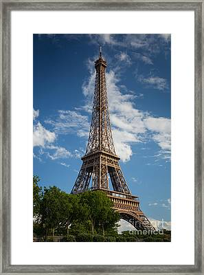 La Tour Eiffel Framed Print by Inge Johnsson