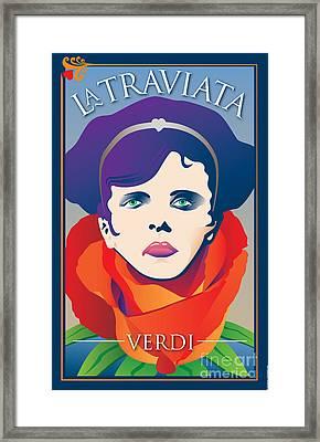 La Traviata Opera Framed Print by Joe Barsin