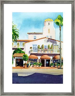 La Valencia Hotel Framed Print by Mary Helmreich