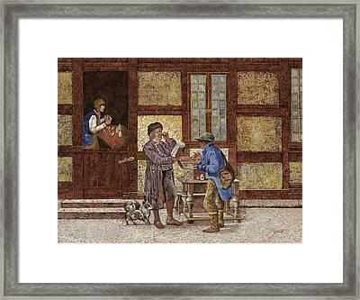 La Vendita Degli Occhiali Framed Print by Guido Borelli